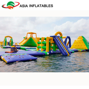 Sea Inflatable floating water park for adults commercial giant inflatable aqua park floating water playground