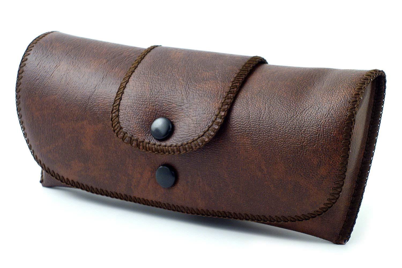 dab39e59c2ab Get Quotations · Soft Eyeglass Case Faux Leather