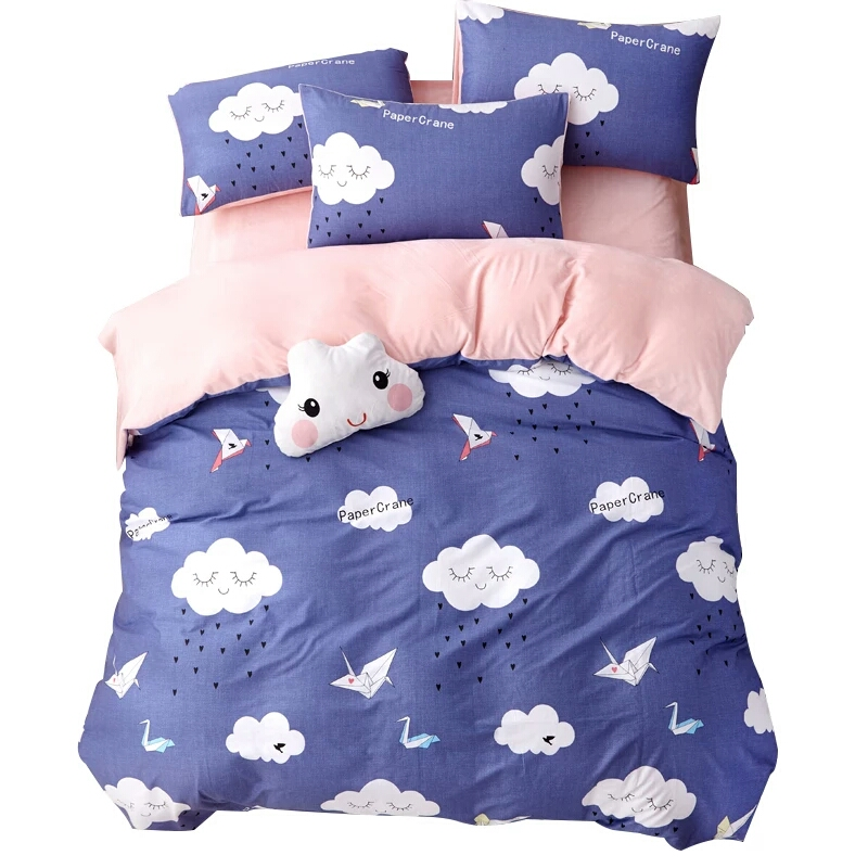 Soft Lightweight Lovely Printed Microfiber Comfortable Dorm Bed Comforter Cover for Boys & Girls