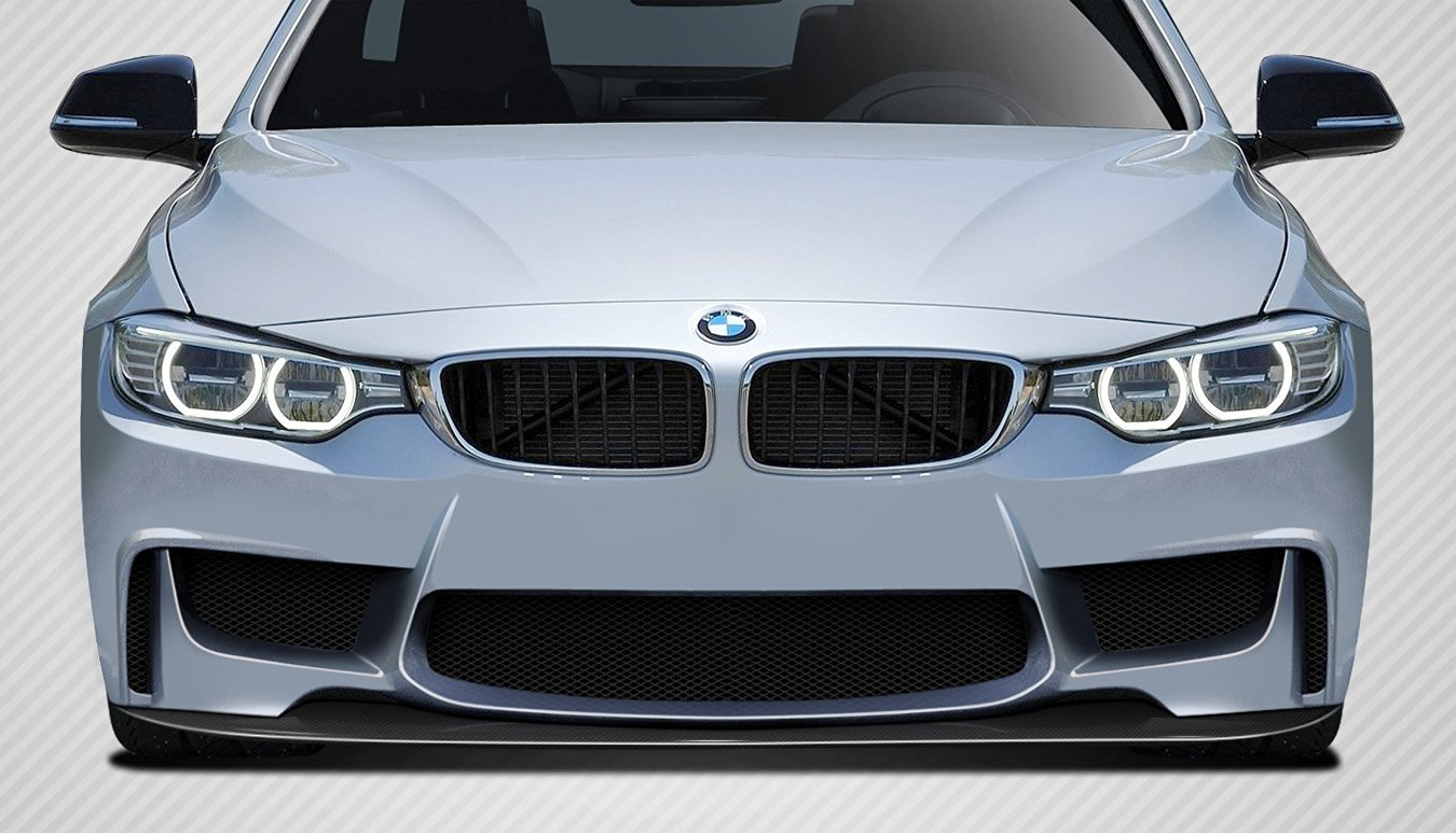 2014-2016 BMW 4 Series F32 Carbon Creations 1M Look Front Splitter - 1 Piece