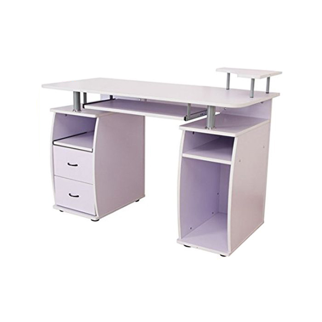 Fabulous Latest Design Furniture Light Purple Office Desk Pb Table Computer Table With 3 Shelves And 2 Drawer For Home Or Office Buy Computer Table Office Download Free Architecture Designs Estepponolmadebymaigaardcom