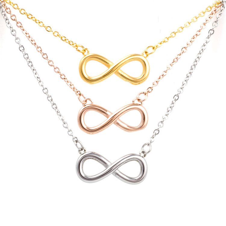 Latest <strong>Fashion</strong> 925 Sterling Silver Simple Pendant Infinity Charms Necklace
