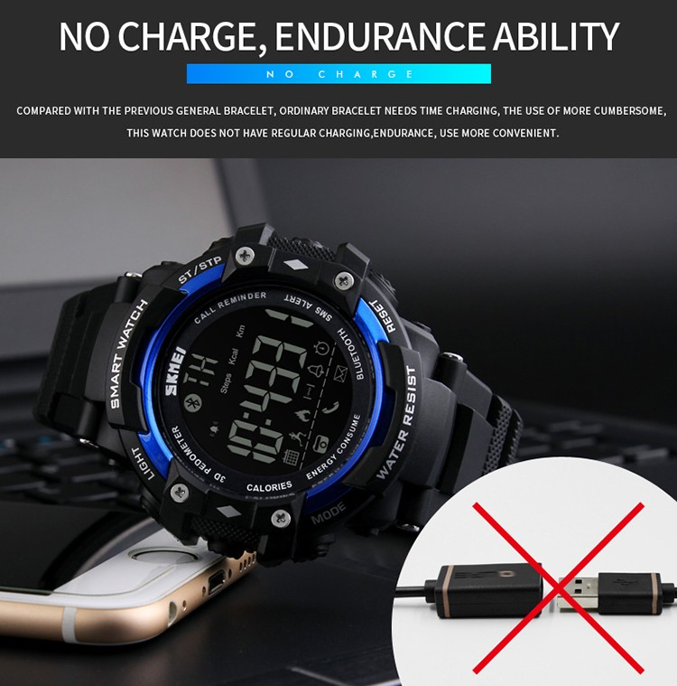 whole smart watch new men sports wristband skmei 1226 watches smart watch new men sports wristband skmei 1226 watches call message reminder pedometer calories bluetooth waterproof