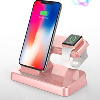 Wireless 2 in 1 Charger Station Magnetic Induction Charging Dock For iPhone and Apple Watch