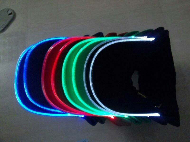 LED Light Brim Baseball Caps and Hats With Custom Embroidery LED Cap