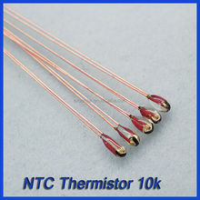Radial glass NTC thermistor, 50mm insulated lead length available