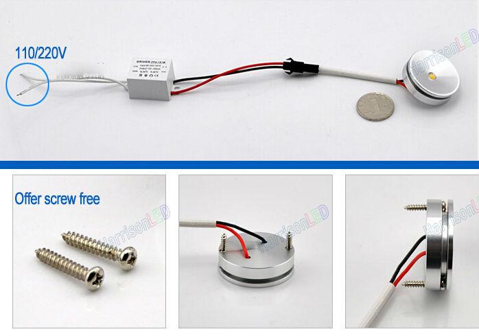Mini Size 1w 3w 110v 120v 220v 12v 24v Led Under Cabinet Lighting ...