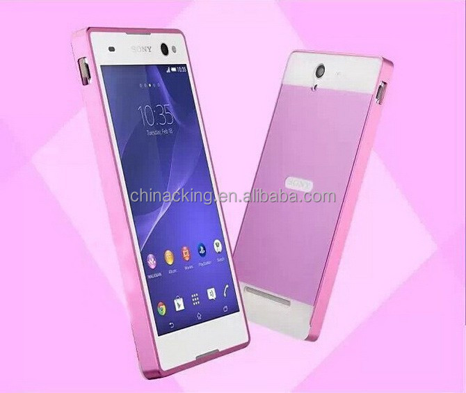 newest 1ab6d e1b73 C3 Dual Layer Hybrid 0.5mm Metal Aluminum Bumper + Pc Back Cover Case For  Sony Xperia C3 S55t - Buy Metal Aluminum Bumper + Pc Back Cover Case,Dual  ...