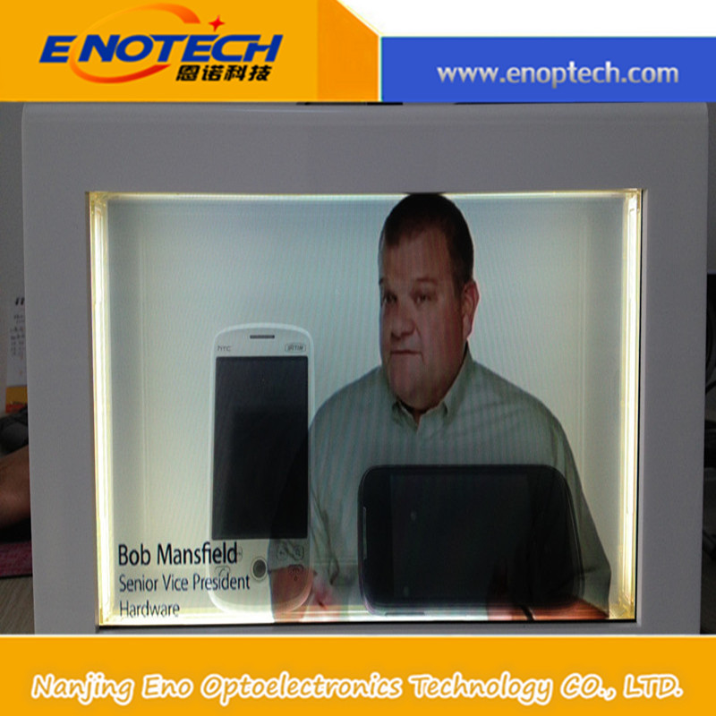 Transparent LCD/LED display showcase for product advertising,exhibition