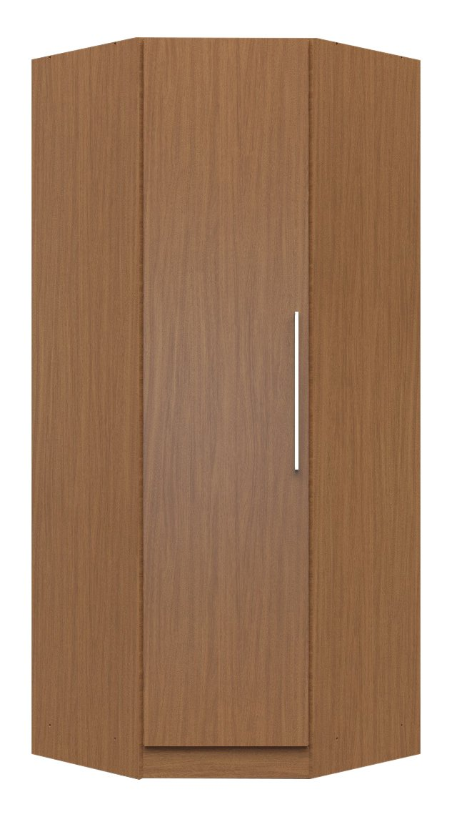 Manhattan Comfort Chelsea Corner Closet Collection Free Standing Wardrobe With 2 Hanging Rods And