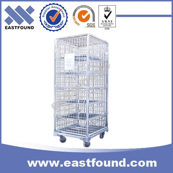 4 Wheels Wire 500kg Platform Roller Cage, Steel Roll Container