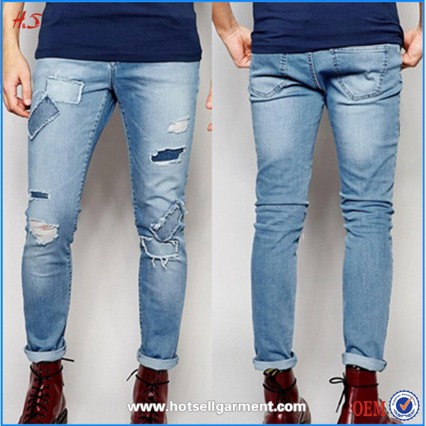 Latest fashion high quality casual stylish new style washed jeans men 2016