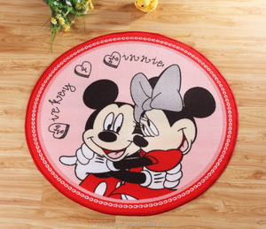 New design promotional turfed cartoon home door mat for kitchen