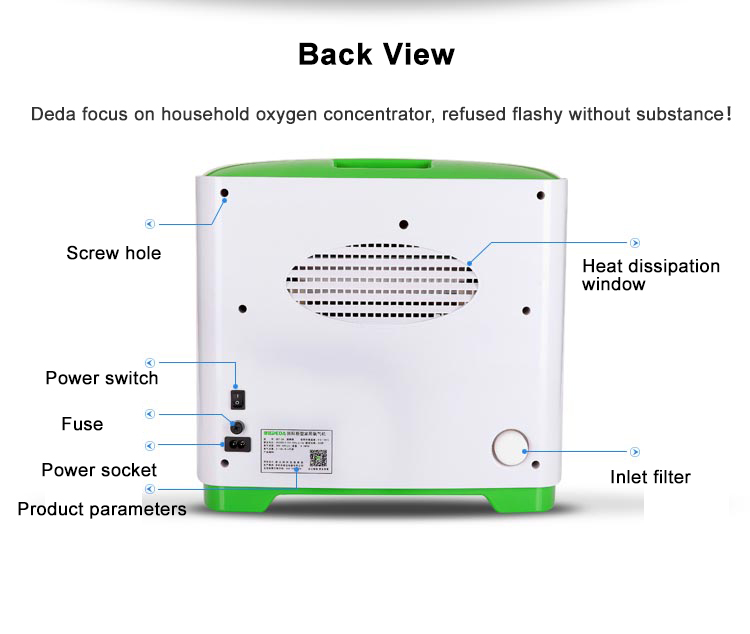 DEDAKJ Hot sale room health portable pure oxygen making machine