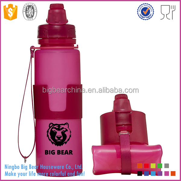 22oz Collapsible Foldable Water <strong>Bottle</strong> with Leak Proof Twist Cap