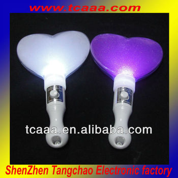 Led Heart Shape Battery Operated Glow Light Stick Centerpieces ...