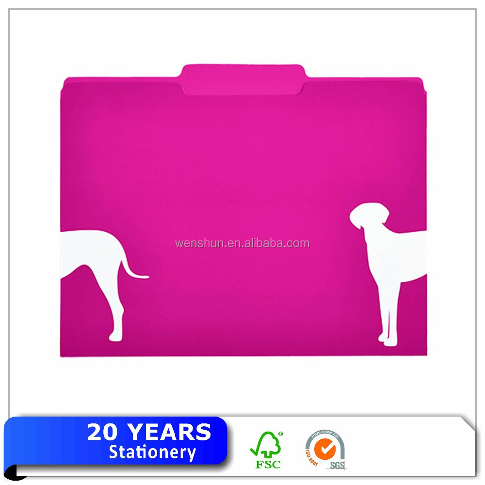 Colored Manila Presentation File Folder,1/3 cut,A4,100%recycled paper
