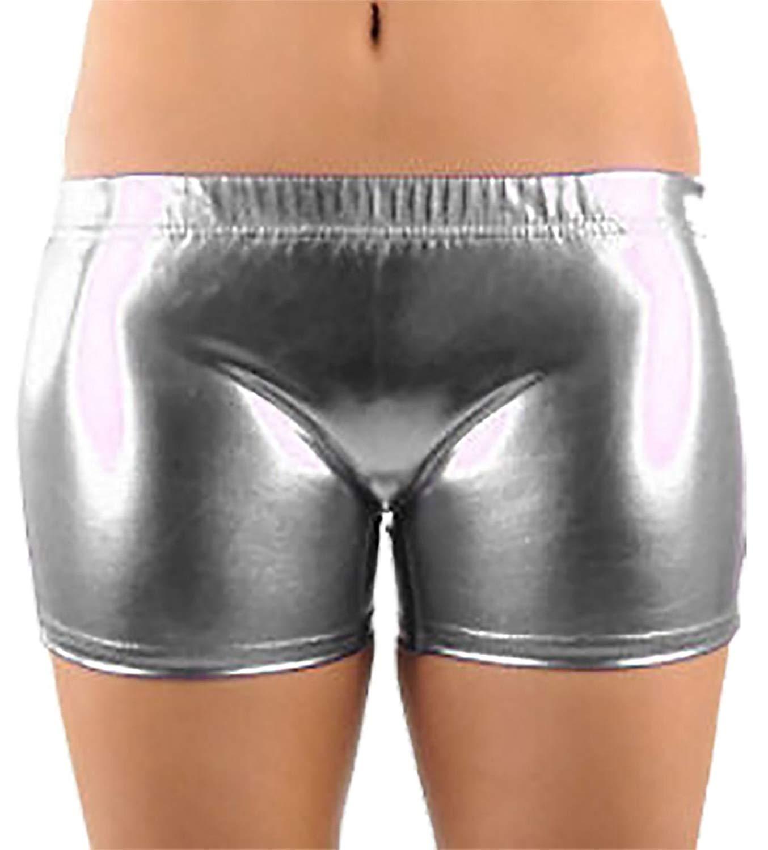 78cd3b02a2b Rimi Hanger Girls Metallic Shiny Hot Pants Ladies Wet Look Stretchy Dance  Wear Shorts 5-