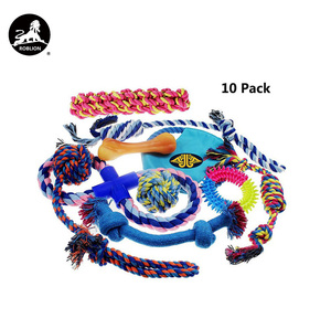 RoblionPet Custom Professional Cheap Durable Organzic Soft Zanies Rope Pet Dog Chew Activity Toys 10 Set Pack