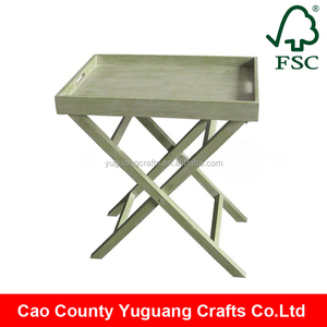High quality wood material wooden serving tray / Food Serving bed table Tray