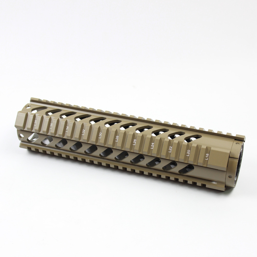 "10"" Length Carbine Free Float Quad Rail Mounting System"