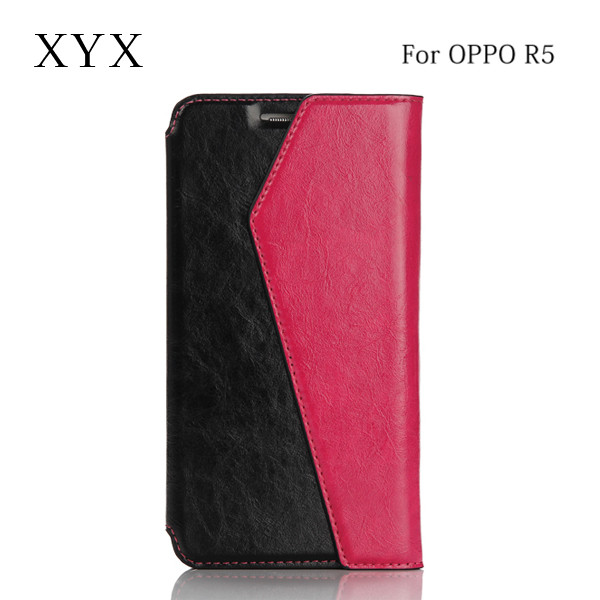 2016 trendy design pu material flip cover for oppo r5 phone