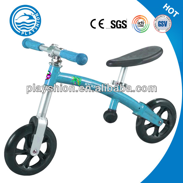Best no-stress method of learning kick bike for developing child's sense of motor skills