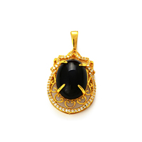 Xuping gold 24K black pearl pendant for women