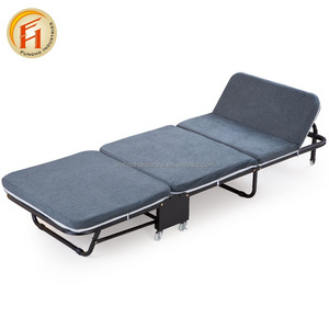 Fashion pormotation folding metal bed living room furniture adult single beds