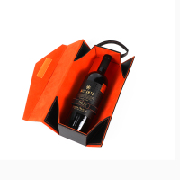 High quality custom made leather gift wine box