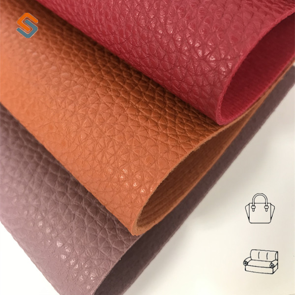 1.7MM wearproof big litchi grain PVC sofa seat cover soft <strong>leather</strong> for bag
