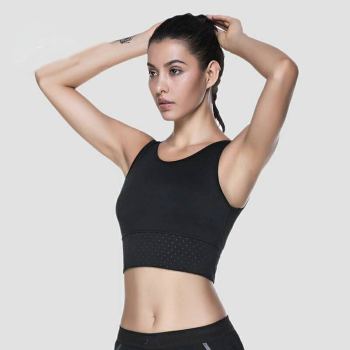 abcd6f1b4e725 Women s Fitness Yoga Crop Tops Sports Training Vest wear Gym Breathable Bra