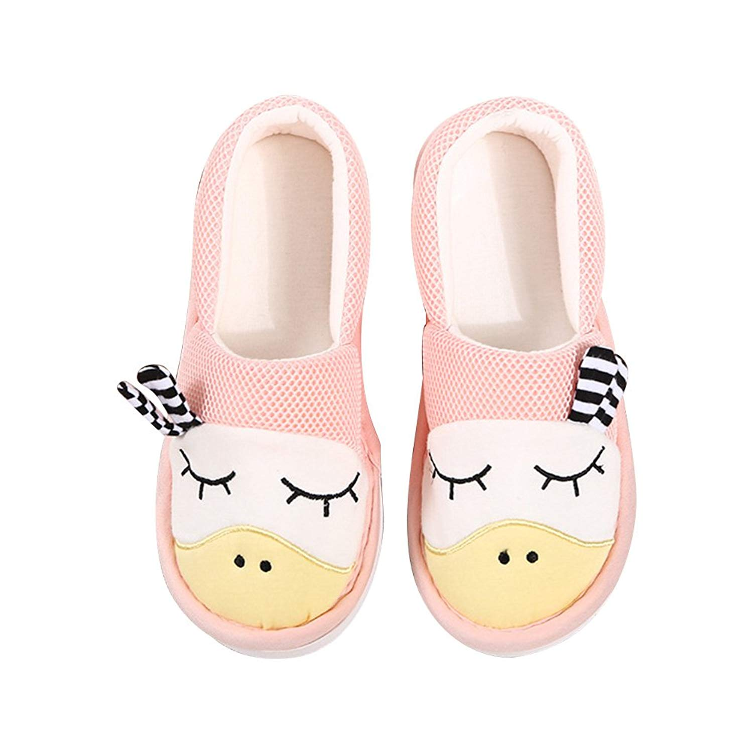 BUYITNOW Women's Comfort Knitted Cotton Slippers Washable Flat Closed Toe Ultra for Pregnant, Diabetic, Edema