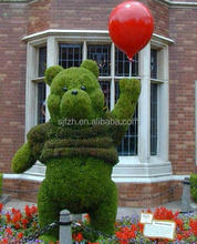 New style decorative outdoor animal series, artificial bear topiary grass