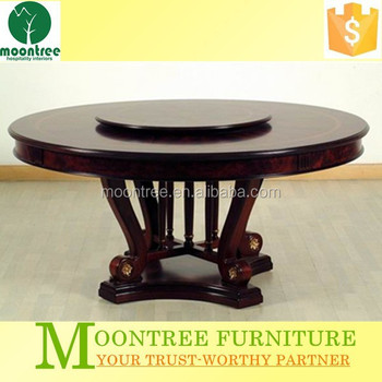 Mdt 1102 Top Quality Wooden Round Rotating Dining Table