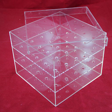 Clear Acrylic Flower Box Luxury Packaging Box For Flowers with lid