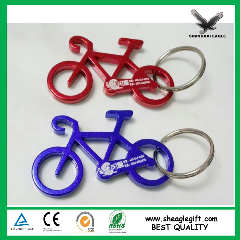 Promotional Cheap Aluminium Metal Promotional Keychain Beer Bottle Opener