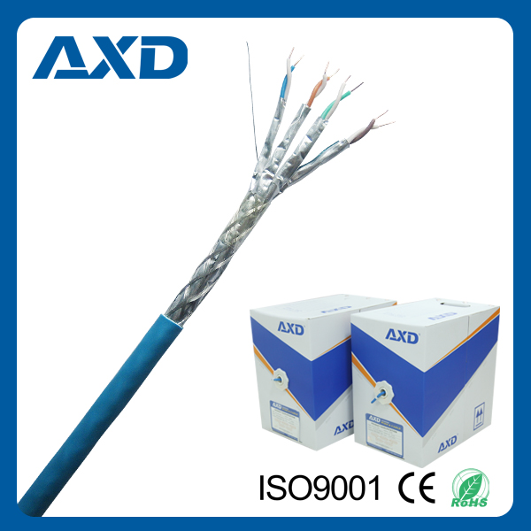 AXD XD-9001B CE/ ROHS/ CPR Certificated lan cable CAT 7 SSTP 1000ft competitive price for network computer and communication