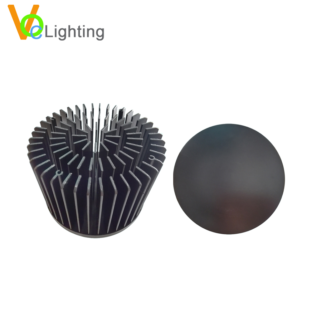 Flexible Design Durable Black Anodized Fin Heatsink Clu048 for Downlight