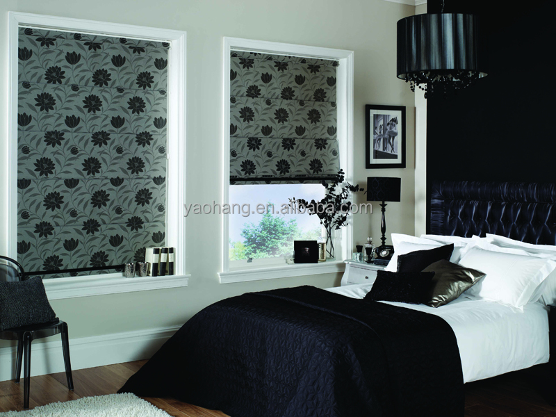 Used For Home Decoration Fan Shaped Motorized Roman Blind