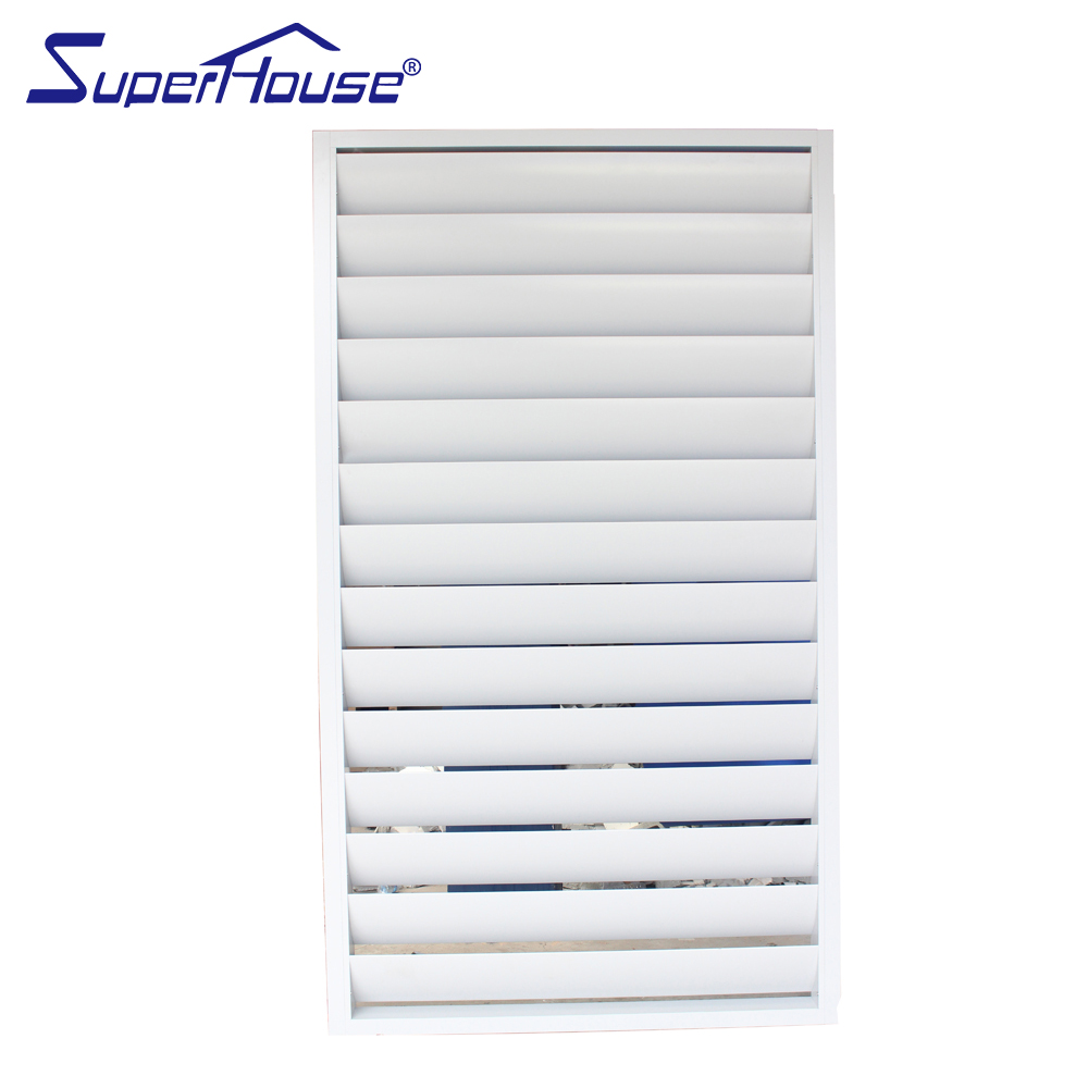 Australian standard air flow fixed aluminium shutter glass louver windows