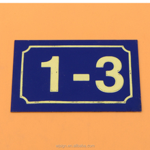 China Direct Top Metal Aluminum Custom Embossing Number Plate For Room