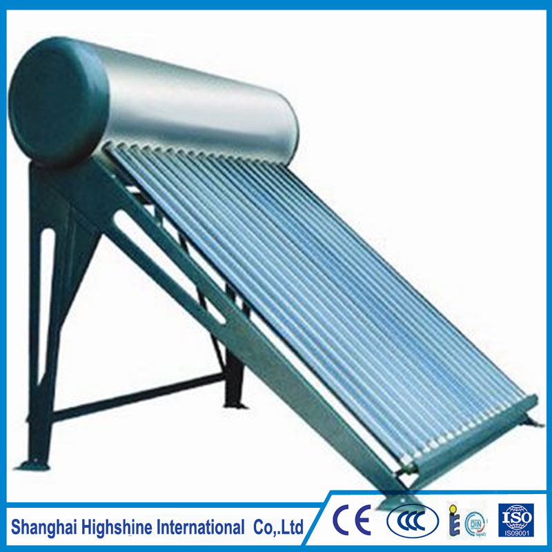 Automatic non-pressured solar energy water heater slogan Compact Unpressurized Solar Water Heating System for Domestic Using