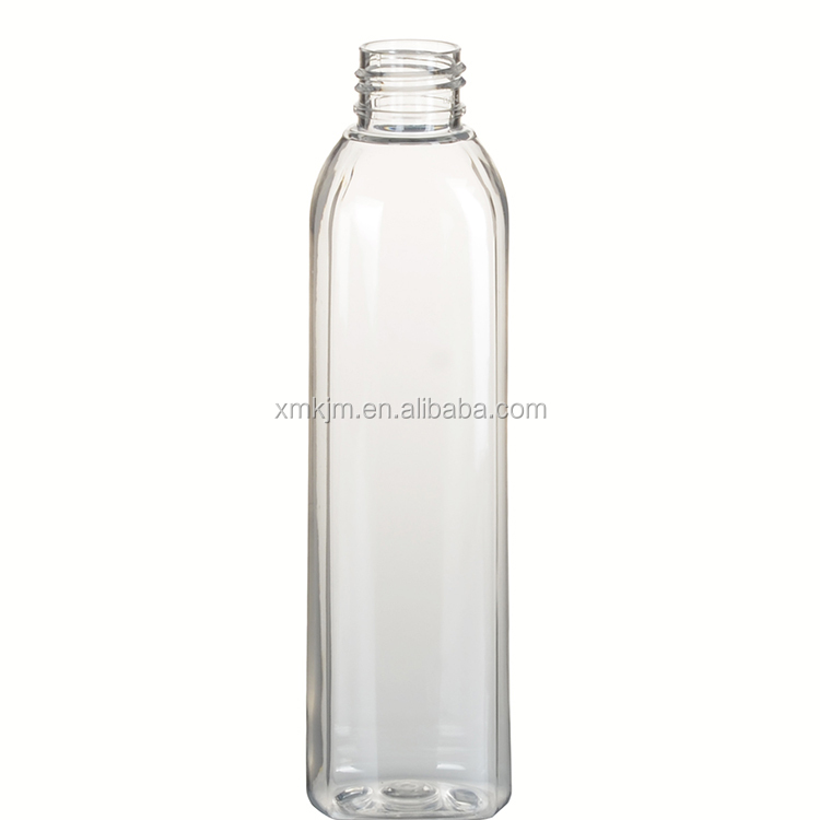 Cylinder shape 100ml cosmetic plastic pet bottle for shampoo