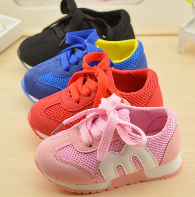 Autumn spring children s shoes fashion mesh sneakers kids lace up casual shoes for girls boys