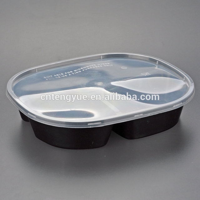 Leakproof one time lunch box containers for selling pp disposable take away box