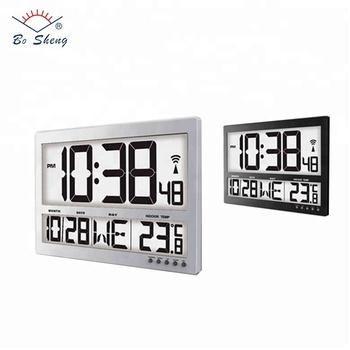 Big Screen Digital Lcd Indoor Temperature Day Time Month Function Clock -  Buy Big Screen Clock,Day Date Time Clock,Digital Clock With Temperature