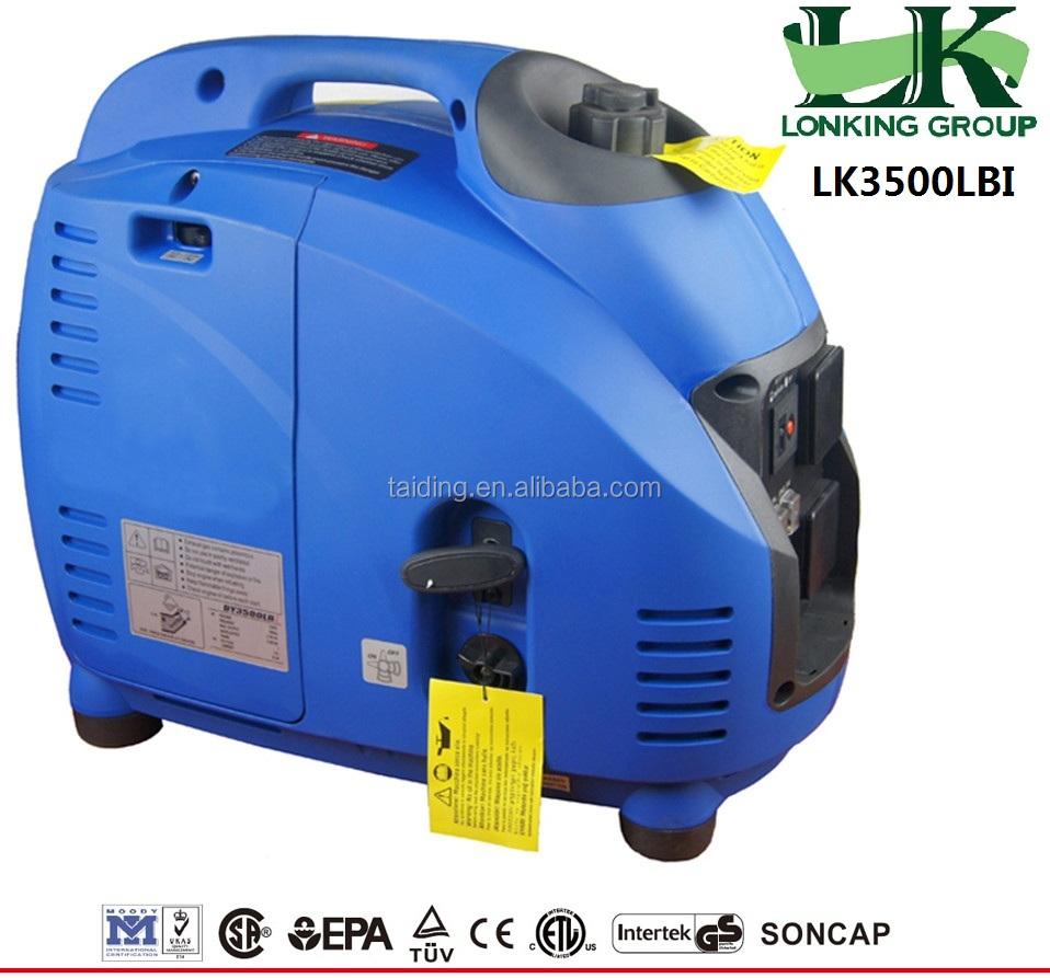 3KW Super quiet power petrol generator.240v gasoline inverter generator.