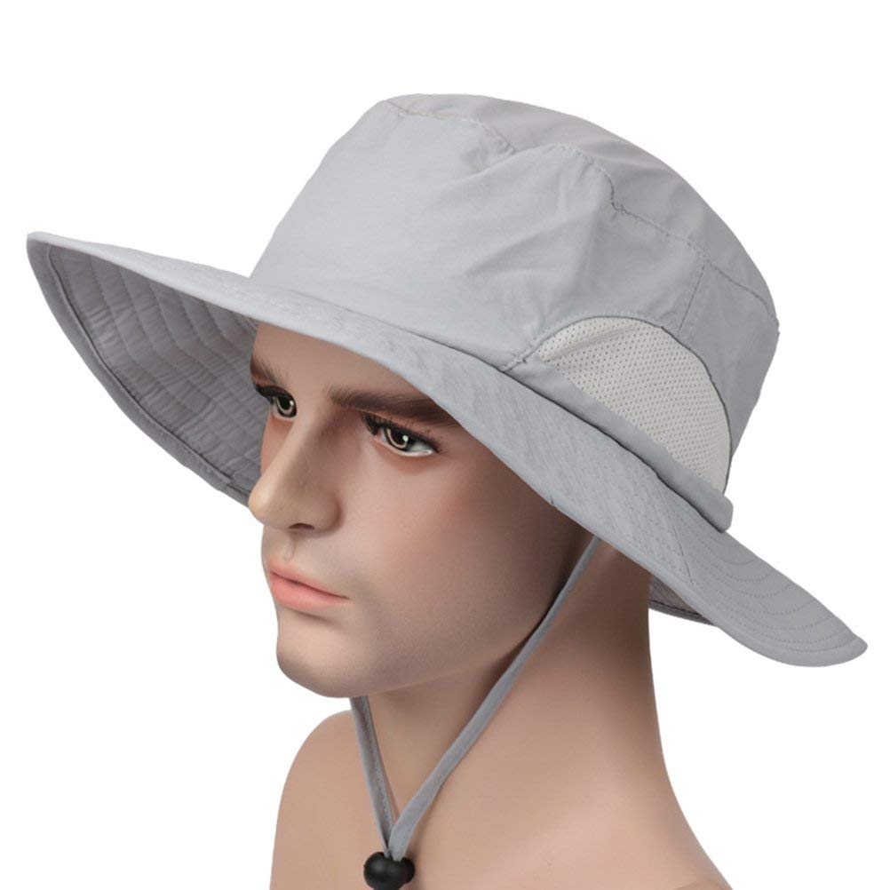 fd7dcb0ed53 Get Quotations · VORCOOL Outdoor Sun Hat with Wide Brim Quick Dry Sun  Protection Outdoor Fishing Hat Outdoor Fishing