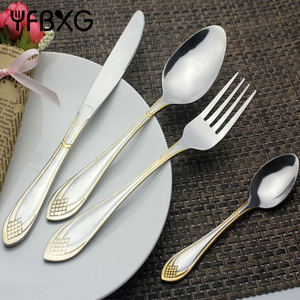 bulk buy from china high quality 72pcs gold cutlery set